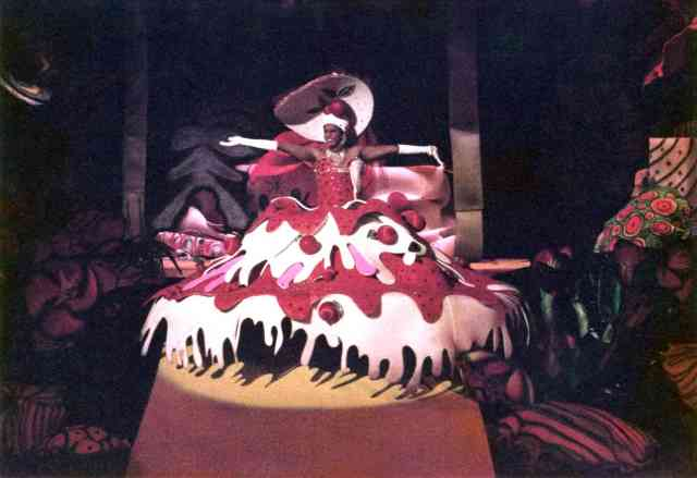 "Michael Hickerson as ""Cherry Tart,"" Krewe of Amon-Ra ball, 1985. Gift of Jerry Gilley, 2014.017.15.14."
