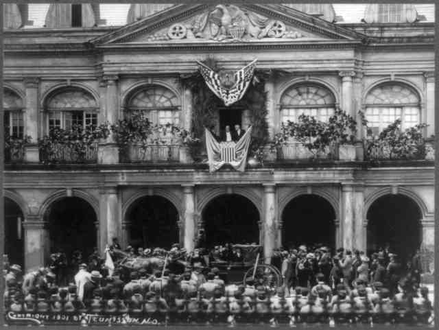 William McKinley Making Speech from Balcony in New Orleans