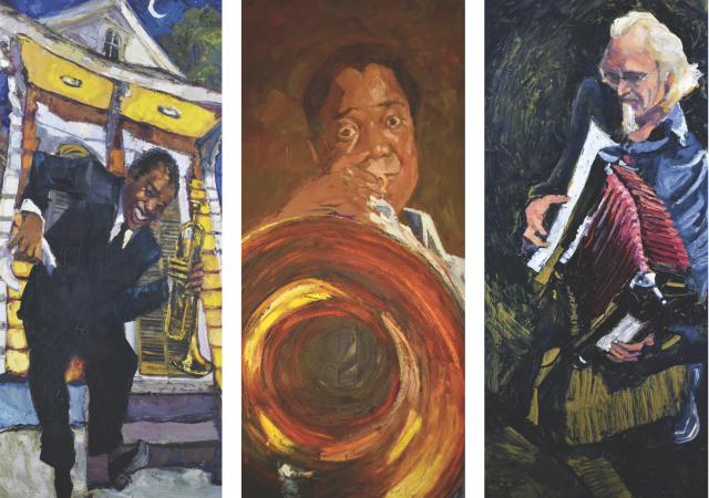 From the Fat Man to Mahalia: James Michalopoulos' Music Paintings.